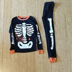 Carter's skeleton pajamas